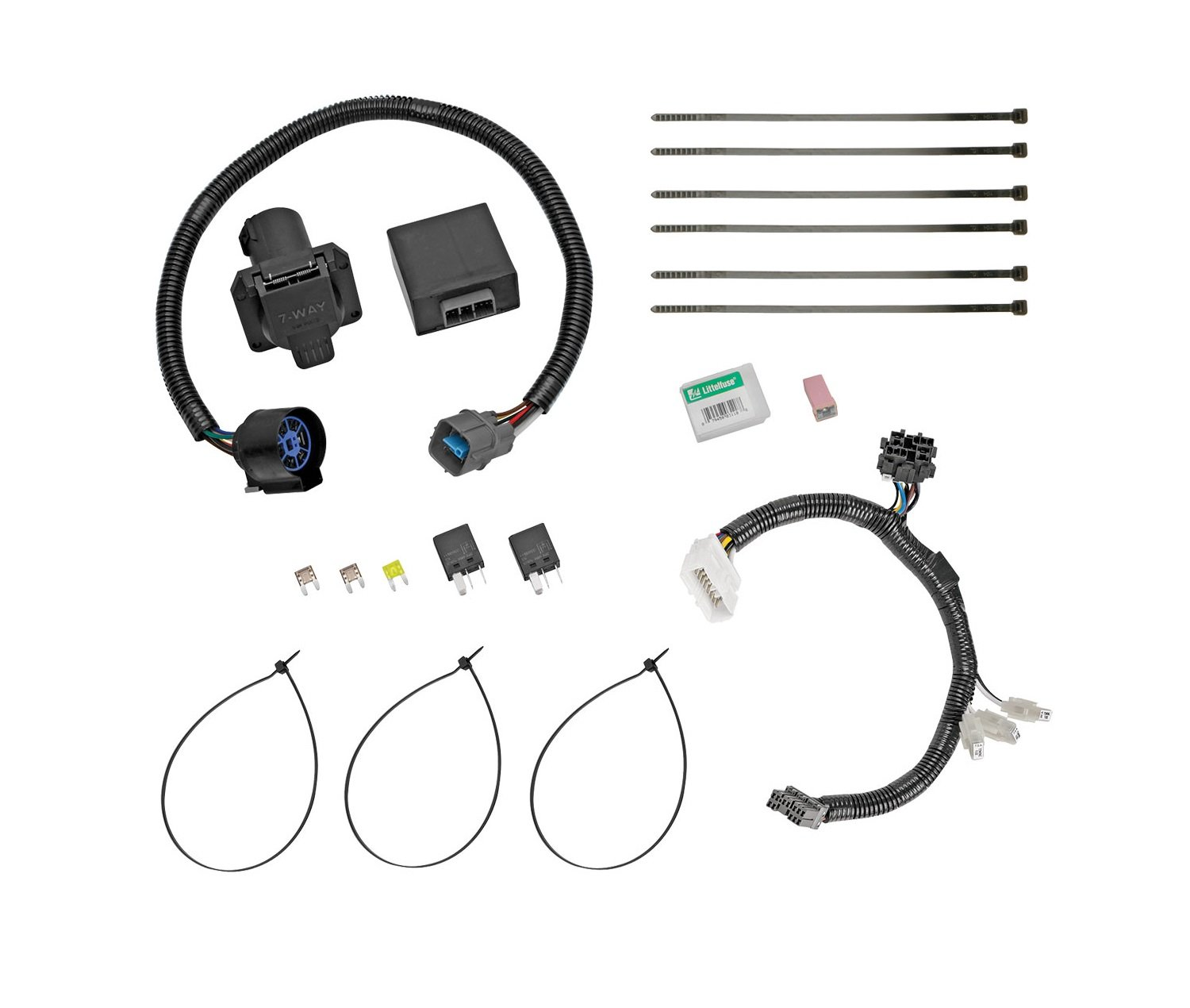 Tow Ready 118265 Trailer Wiring Connector Kit For Honda Pilot Rail Diagram Diy Teardrop Kits Amazon Canada