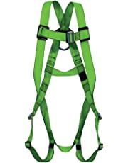 PeakWorks 1 D-Ring Compliance Series Fall Protection Full Body Safety Harness, Pass-Thru Buckle Leg, CSA & ANSI Certified, Class A - Fall Arrest, V8001000
