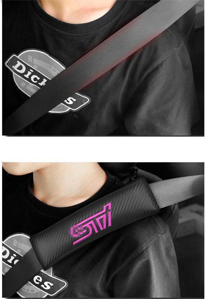 JTAccord Black Carbon Fiber Cloth Car Seat Belt Pad Shoulder for Subaru STI Legacy Forester Outback WRX,Seat Belt Shoulder Protector,Auto Accessories,2pcs//set