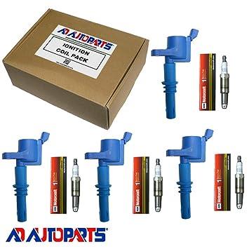 Juego de 4 pastillas de bujías SP546 pzk14 F + 4 AD AUTO PARTES bobinas de encendido DG511 SP515: Amazon.es: Coche y moto