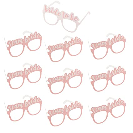 b2acf05a8005 Bachelorette Party Sunglasses – 10-Pack of Bridal Shower Photo Booth Props  with 1 Bride