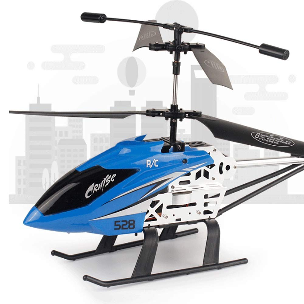 Zenghh Remote Control Helicopter Drone Toy Multiplayer Game Alloy Frame Charging and LED Light Child Boy Remote Control Aircraft Indoor Outdoor Drop Rocker Model Gyro Oversized Preferred Gift