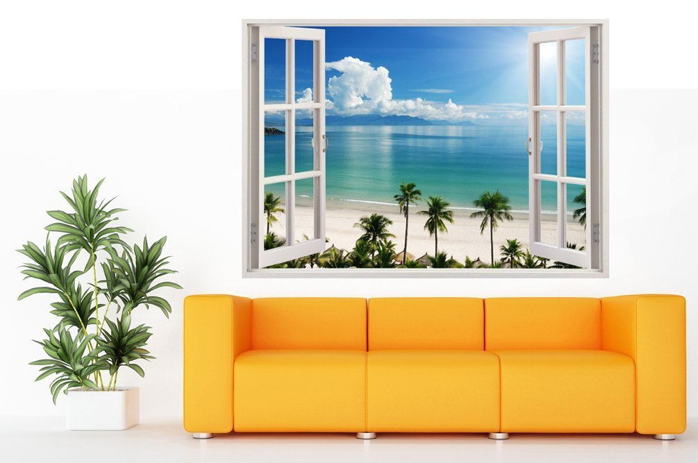 Poster Giganti Per Camere Da Letto : Decalcomania gigante da parete in 3d adesivo a base di colla