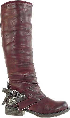 Chaussure Mode Bottine Cavalier Motard Stiletto Femme Boucle Multi-Bride dor/é Talon Haut Aiguille 11 CM Angkorly Int/érieur L/ég/èrement Fourr/ée