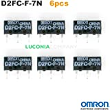 6interrupteurs Micro Omron d2fc-f-7N authentique Interrupteurs Régulateur pour RAZER Logitech Souris Apple MS