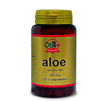 Obire - Aloe, 250 mg, 120 Comprimidos: Amazon.es: Salud y cuidado personal