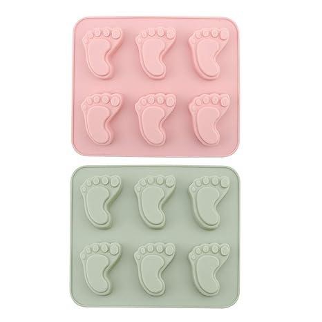 Amazon.com: Molde de chocolate Chokov 2 piezas para huellas ...