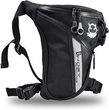 Fansport Bolso para Piernas, Negro Bolsa de Pierna Fanny Waist Pack Carreras de Motos Cintura Bolso de Cintura para Mochila Pierna Moto: Amazon.es: Deportes y aire libre