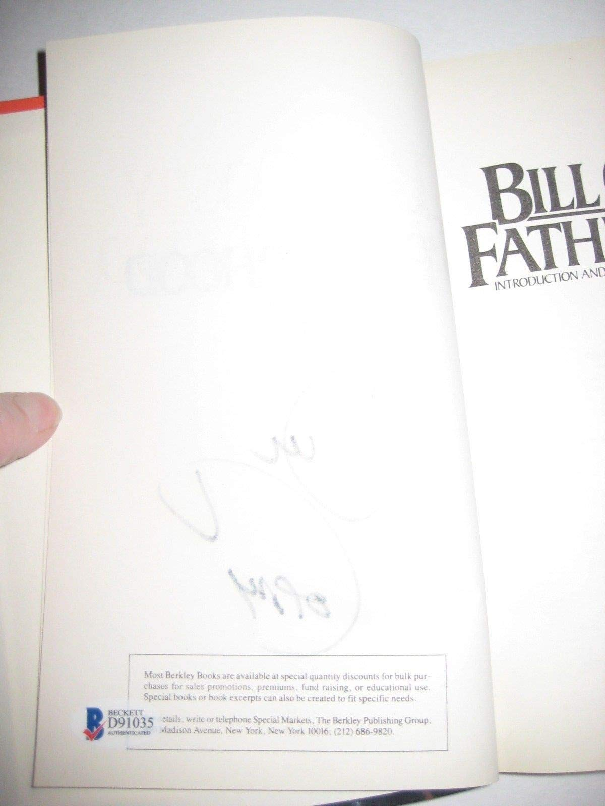 Bill Cosby Autographed Signed Fatherhood Book Beckett Authentication