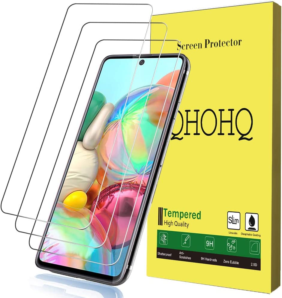 Amazon Com 3 Pack Qhohq Compatible Screen Protector For Samsung Galaxy A71 4g Galaxy A71 5g Galaxy S10 Lite Galaxy Note 10 Lite 9h Hardness Hd Transparent Scratch Resistant Bubble Free Tempered Glass