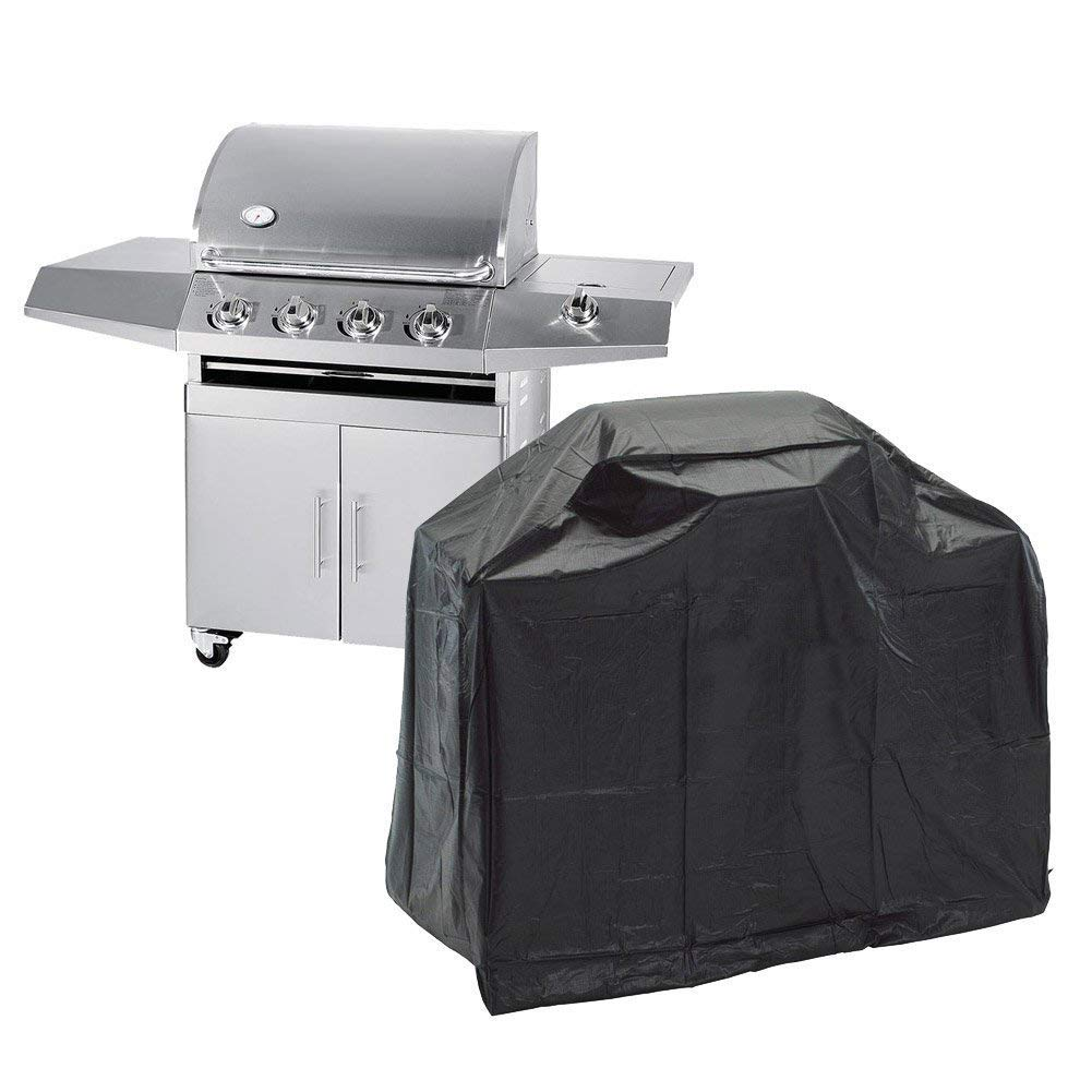 AYAMAYA Grill Cover 55 inch, Waterproof Dustproof Gas Barbecue Smoker Cover Patio Garden Outdoor Cooking Portable BBQ Grill Cover for Weber, Holland, Jenn Air, Brinkmann and Char Broil -[57''x24''x46'']