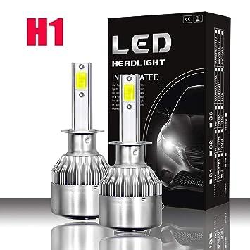 ALIFE-Y LED Bombillas para Coche Faros Delanteros - 1 par, Luces Altas/
