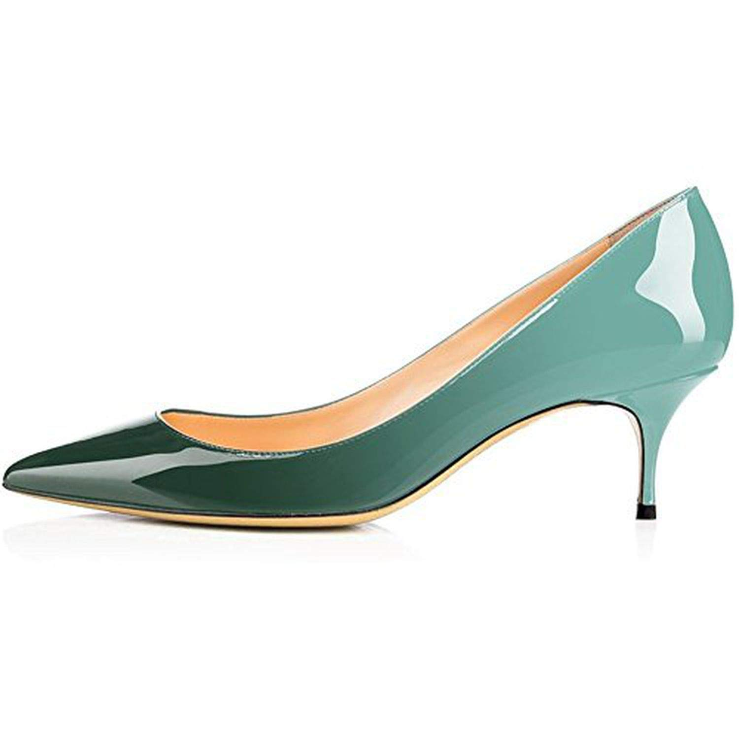 Green Youthern Woman Heels Big Size Pumps shoes Sexy Pointed Toe High Heels Wedding Bridal shoes