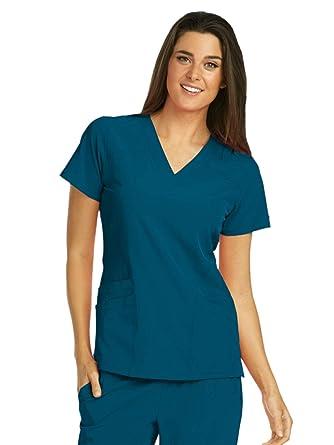 3b0a85af614 Amazon.com: Barco ONE 5-Pocket V-Neck Top for Women - 4-Way Stretch ...