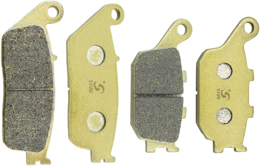 Cyleto Front and Rear Brake Pads for Honda VT1100C2 VT1100 C2 Shadow 1100 ACE Sabre 1995-2007