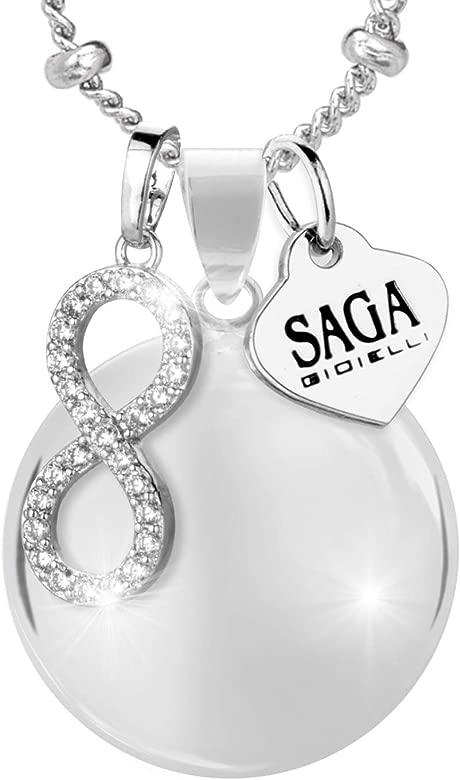 Saga Gioielli - Collar con llamador de ángeles, bola ...