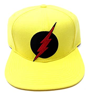 e76897684e3 Image Unavailable. Image not available for. Color  DC Comics Yellow Reverse  Flash Zoom 3D Embroidered Logo Snapback