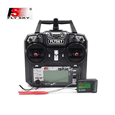 FLYSKY FS-i6X 10CH 2.4GHz RC Transmitter Controller/W iA10B Receiver Upgrade Cable for RC Helicopter Plane Quadcopter Glider: Toys & Games