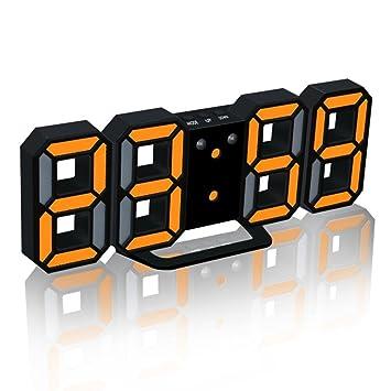 cyctech moderno minimalista de luz LED Digital Alarma Reloj mesa escritorio Mini noche pared reloj 24