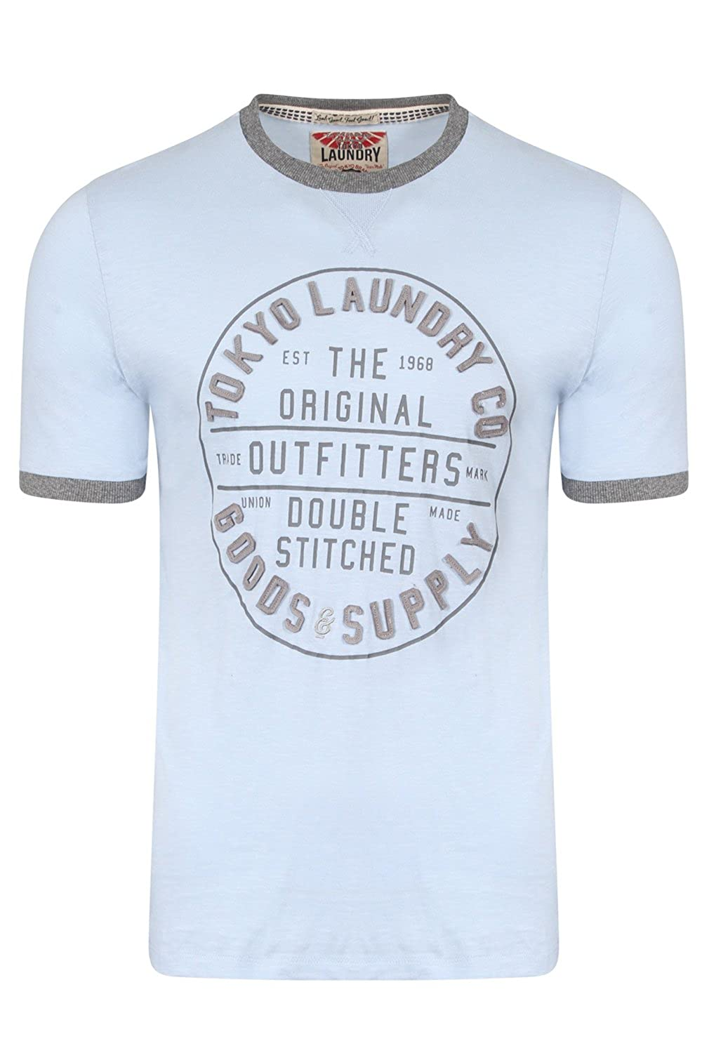 Mens Crew Neck T-Shirt by Designer Tokyo Laundry /'Double Stitched/' 100/% Cotton