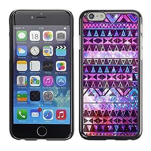 - Hipstr Nebula Aztec Tribal Pattern - - Monedero pared Design Premium cuero del tir¨®n magn¨¦tico delgado del caso de la cubierta pata de ca FOR Apple iPhone 6 6S 4.7 Funny House