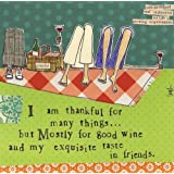 Ideal Home Range 20-Count Curly Girl Design Paper Cocktail Napkins, Thankful For