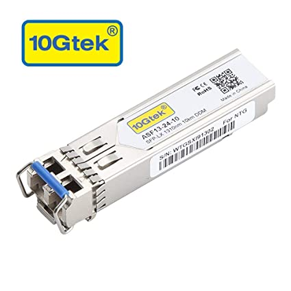 Gigabit SFP LC Single-Mode Transceiver, 1000BASE-LX Mini-GBIC Module for  Cisco GLC-LH-SMD, Ubiquiti, Mikrotik, D-Link, Supermicro, Netgear, TP-Link,