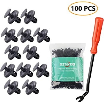 uxcell uxcell 30 Pcs 10mm Hole Retainer Clips Plastic Drive Rivets Mud Flaps Bumper Fender Push Clips for Honda Acura