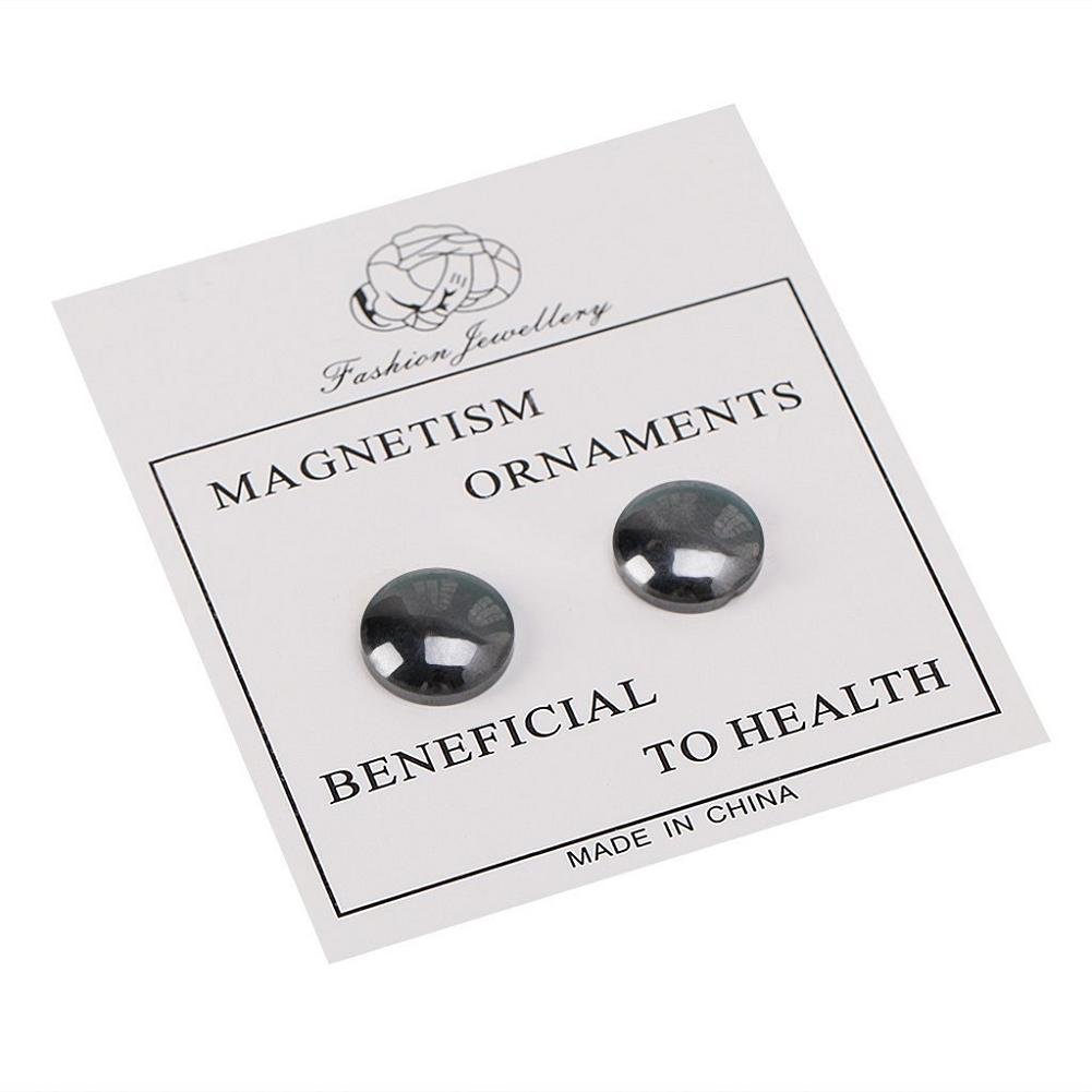 Lottoy 1 Pair Unisex Weight Loss Ear Stud, Healthy Magnetic Therapy Earrings,No Piercing by Lottoy (Image #3)