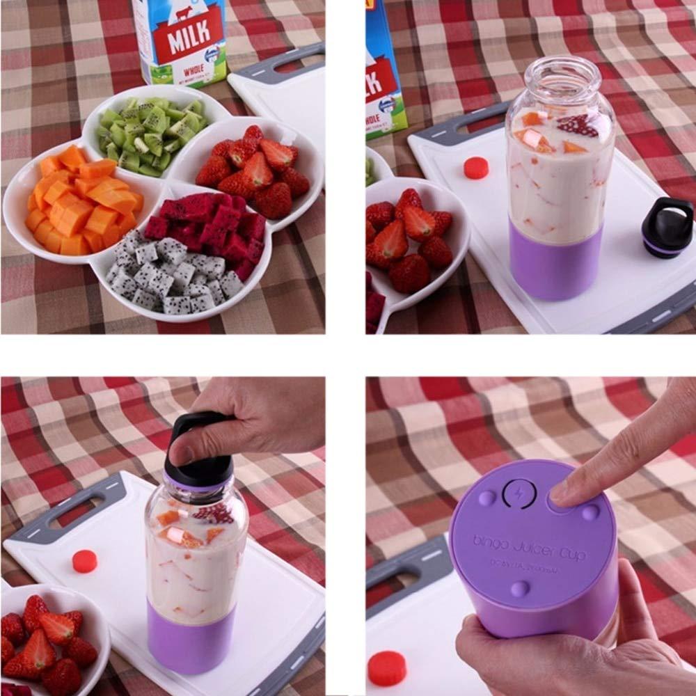 Gano Zen 500ml Electric Juicer Cup -Mini Portable USB Rechargeable Juicer Blender - Maker Shaker Squeezers Fruit Orange Juice Extractor by Gano Zen (Image #1)
