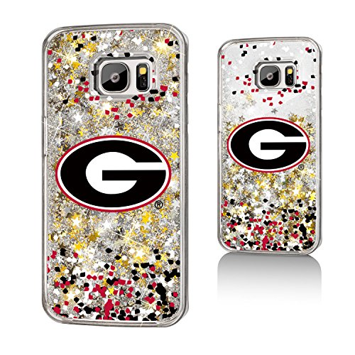 Georgia Bulldogs Gold Glitter Case for the Galaxy S7 (Gold Georgia Bulldogs Football)