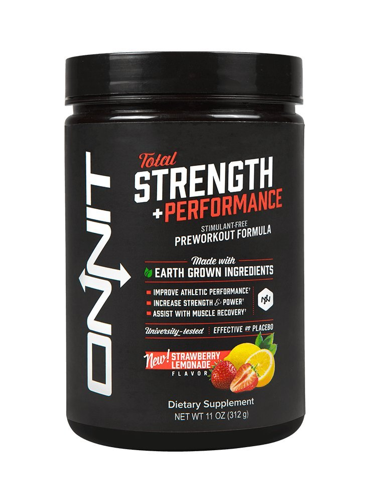 Onnit Total Strength and Performance - Stimulant-Free Pre-Workout Supplement - Strawberry Lemonade,11 ounce(312 g)