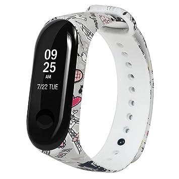 Kangrunmys Bracelets De Remplacement pour Xiaomi Mi Band 3, imprimé ...
