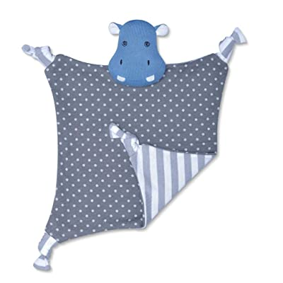 Organic Farm Buddies Blankie JoJo Hippo Blue: Clothing