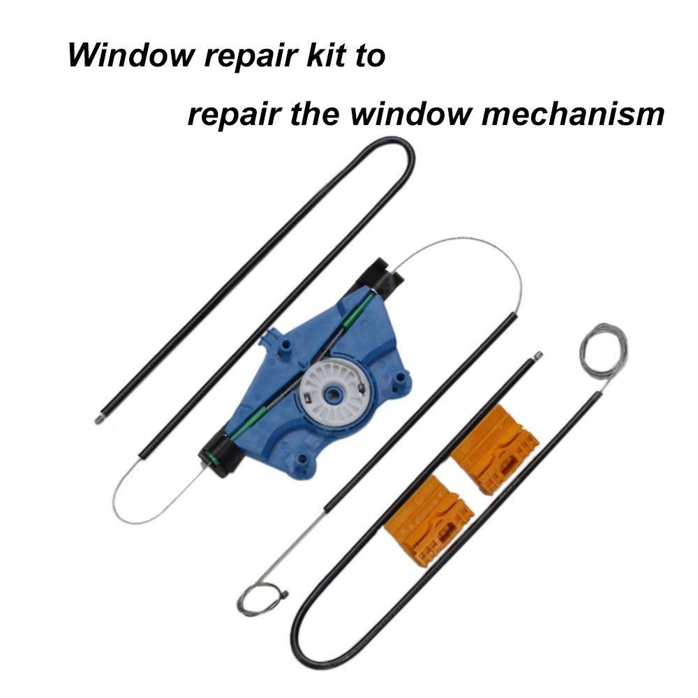 KKmoon Interruptor Regulador de Ventana Lado Derecha Delantero Kit Reparar Cable: Amazon.es: Coche y moto