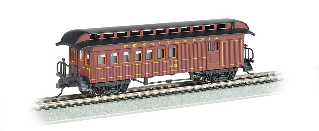 Bachmann Industries Combine Prr Ho Scale Old-Time Car with Round-End Clerestory Roof Bachmann Industries Inc. 15202