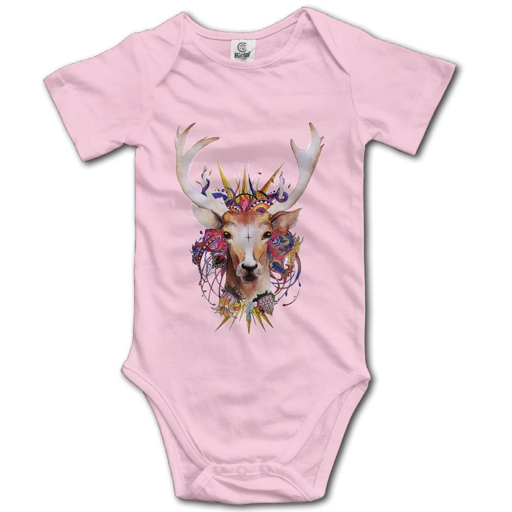 Rainbowhug Deer Animals Unisex Baby Onesie Cartoon Newborn Clothes Concise Baby Outfits Comfortable Baby Clothes