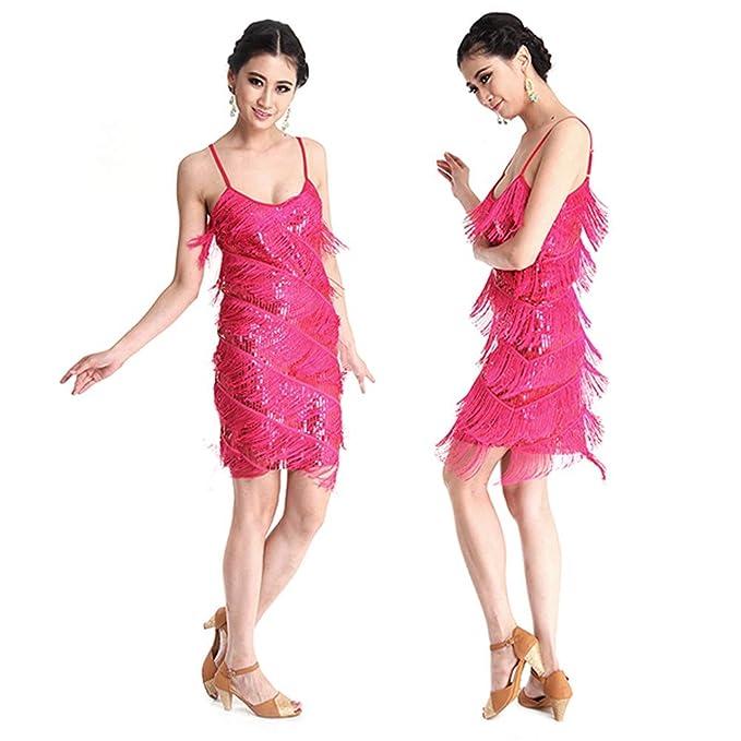 Vestido De Baile Latino para Mujer Sexy con Flecos Borla ...