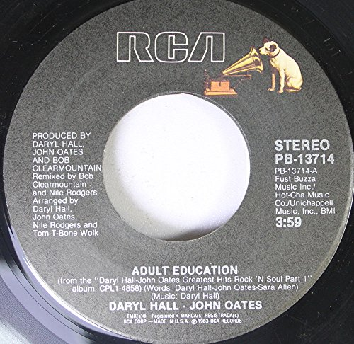 DARYL HALL & JOHN OATES 45 RPM Adult Education / Maneater