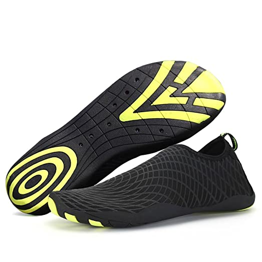 Men Women Water Shoes Quick-Dry Swim Shoes Lightweight Barefoot Beach Shoes With Drainage Holes