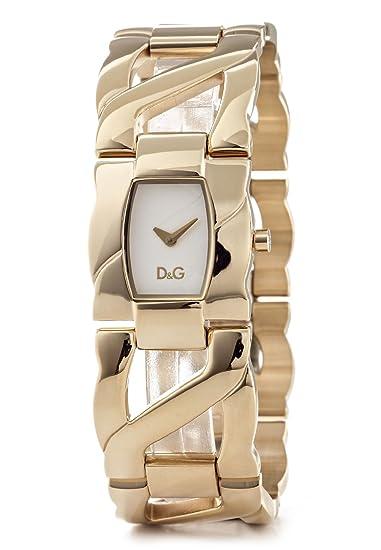 D&G Dolce&Gabbana Ollie - Reloj analógico de mujer de cuarzo con correa de acero inoxidable dorada
