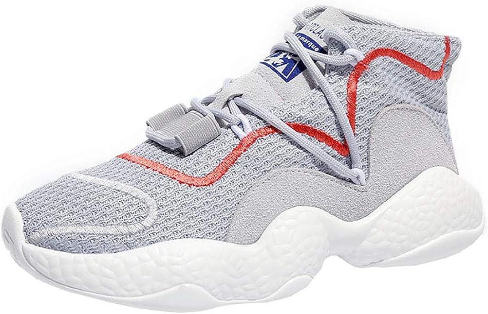 Zapatillas de deporte para mujer Zapatillas de correr Para ayudar al verano Zapatos de baile callejero Hip Hop Marea Nueva Moda de gran tamaño Zapatos retro,Gray,35: Amazon.es: Ropa y accesorios