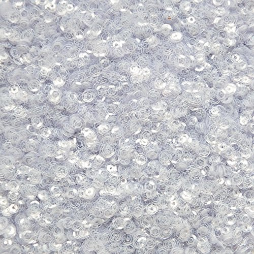4mm cup facet SEQUINS ~ Crystal Clear ~ Loose sequins for embroidery, bridal, applique, arts, crafts, and embellishment. Made in USA.