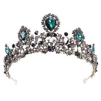 Amazon Com Leiothrix Rhinestone Crowns And Tiaras Baroque Wedding