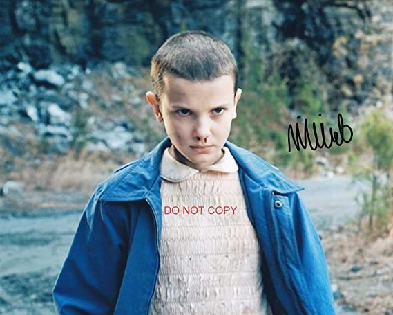 stranger things millie bobby brown eleven reprint signed 8x10 photo