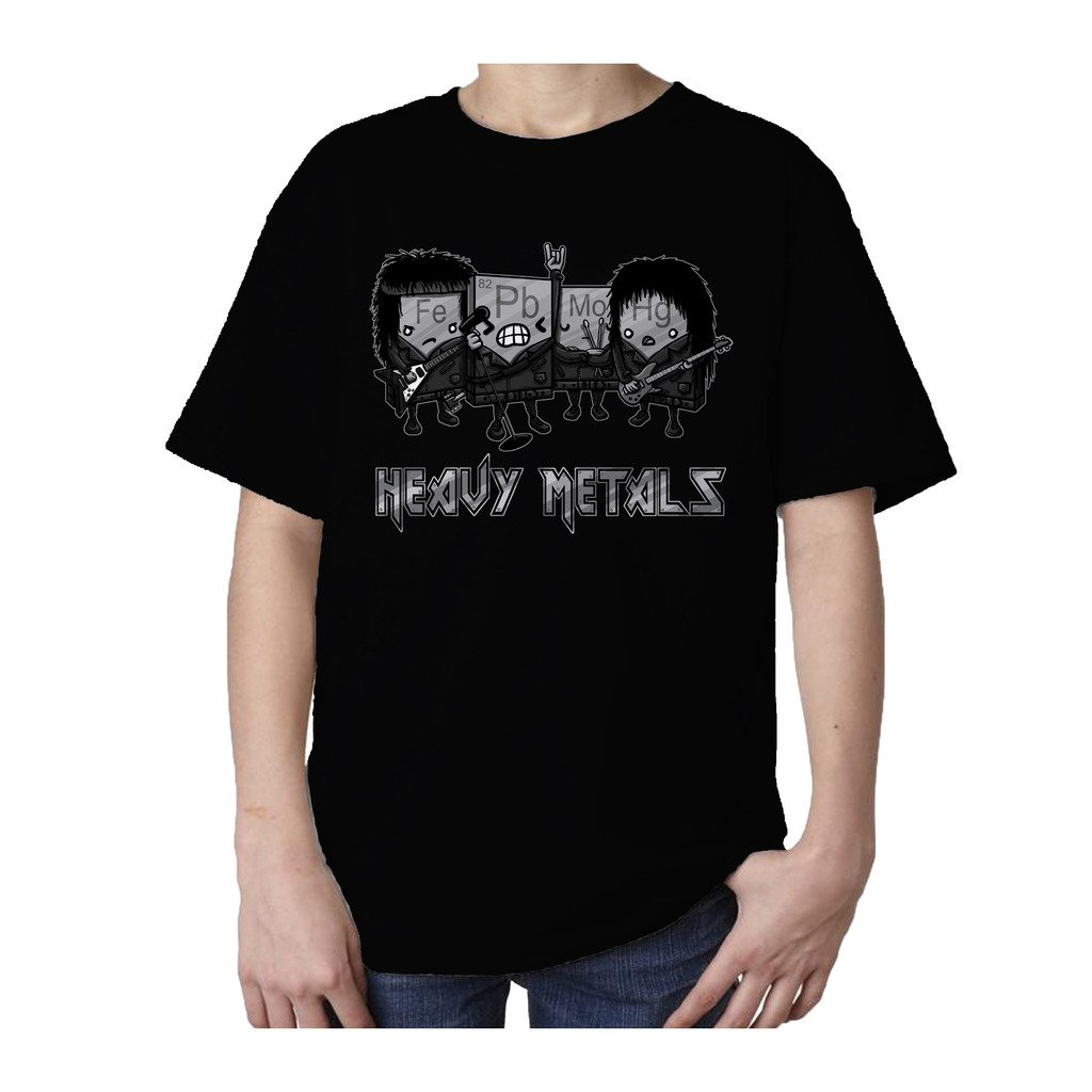 I Love Science Heavy Metals Official Kid's T-Shirt (Black) (12-13)