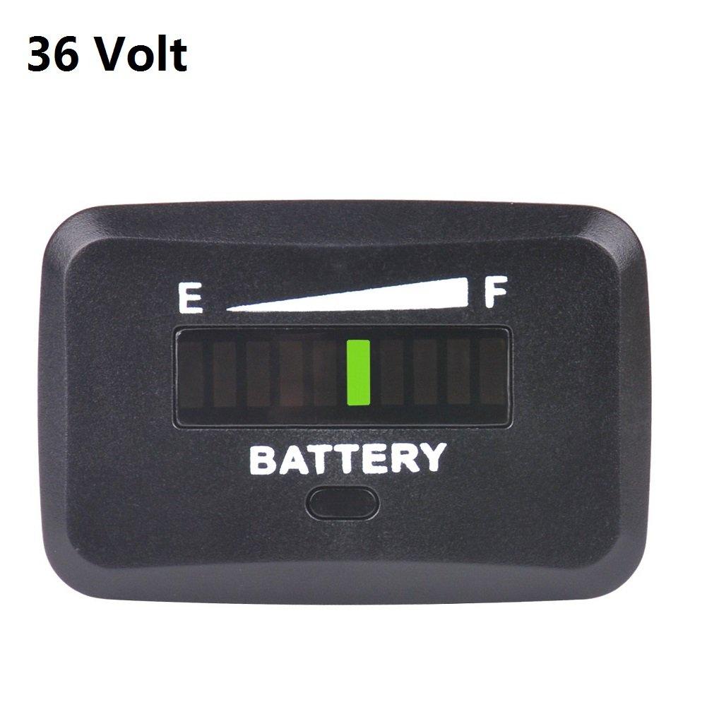 SEARON 36v Volt LED Battery Charge Discharge Status Indicator Gauge Testers Golf Carts Club Car Motorcycle Marine Van Vehicle (36 Volt)