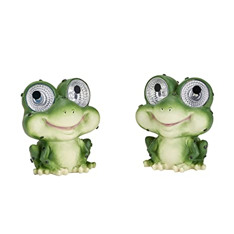 Smart Solar 3590WRM2 Garden Pal Frog Accent Light,2 Pack, With Integral  Solar Panel