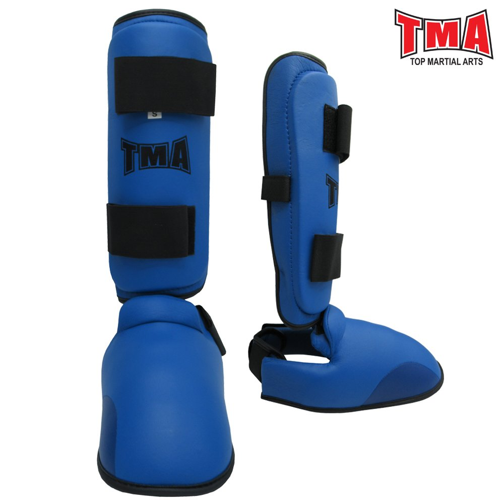 TMA Kids Karate Shin Instep Protector Leg Foot Sparring Gear Guard (Small) by TMA
