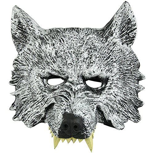 Half Face Wolf Mask for Cosplay Halloween Masquerade